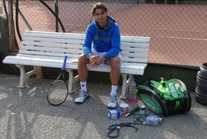 David Ferrer entrena con TenPower