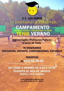 CAMPAMENTO DE TENIS EN C.T. LOS PINOS
